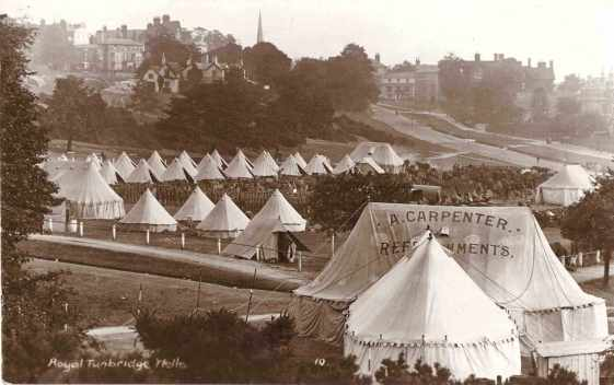Soldiers encamped on Tunbridge Wells Common 1914
